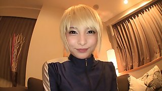 Prettiest Asian blonde wants to have some fun with her partner's dick