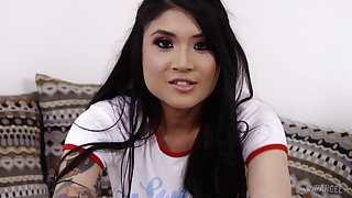 Brenna Sparks wants to play with a tattooed hunk's penis