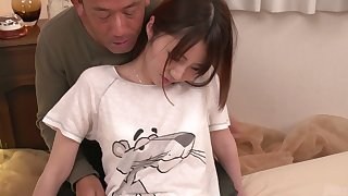Pretty Asian gal Narumi Ayase gets fucked before taking cum in her pussy