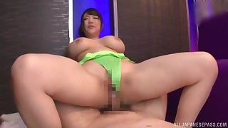 In the pussy is to what place this busty Japanese loves it the most